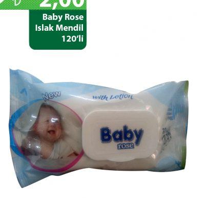 Baby Rose 120'li Islak Mendil